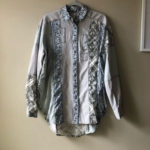 Free People button up tunic